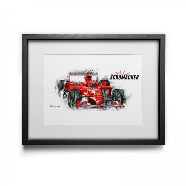 Artwork print - framed - Michael Schumacher - Scuderia Ferrari - 2002
