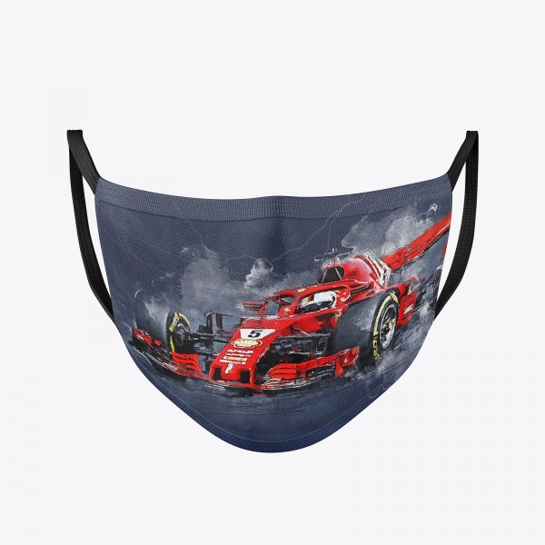 Community Mask washable | Sebastian Vettel 2018 | Temporary mask reusable | Formula 1