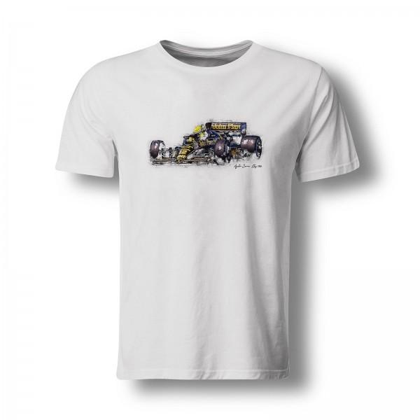 T-Shirt Formel1 - Ayrton Senna - Lotus - 1986