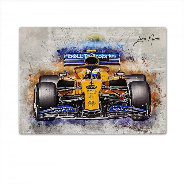 Formel 1 - Schneidbrett Artwork - Lando Norris - Classic 2019
