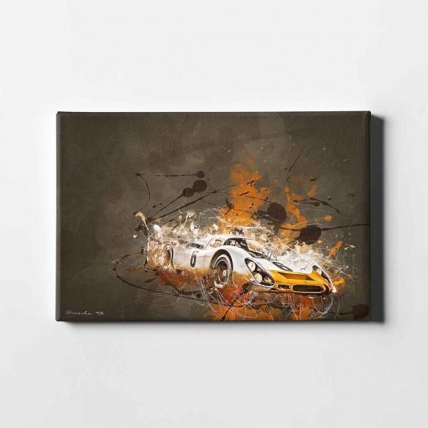 Artwork Leinwanddruck Motiv: Porsche 908 Short-Tail Coupe - 1968 - Silhouette