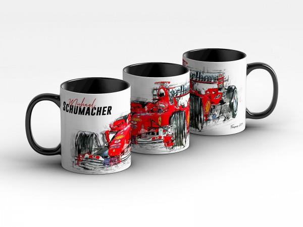Tasse Motiv: Formel1 Michael Schumacher - Scuderia Ferrari - 2004 Front Kaffeebecher