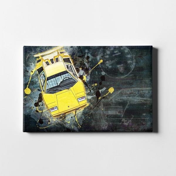 Artwork Leinwanddruck Motiv: Lamborghini Countach 1988