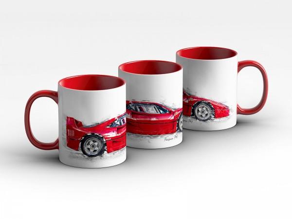 Tasse Motiv: Ferrari F40 - 1989 Kaffeebecher