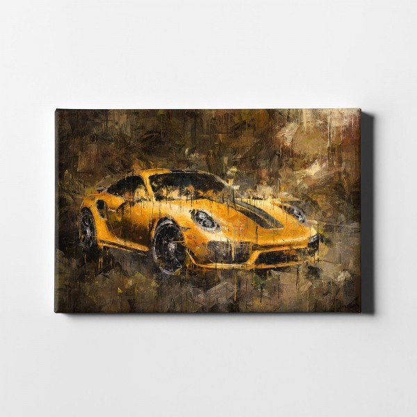 Artwork canvas print - Porsche 911 Turbo S exclusive series - 2017