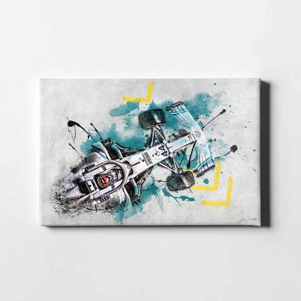 Artwork Leinwanddruck Motiv: Lewis Hamilton - Mercedes - 2019