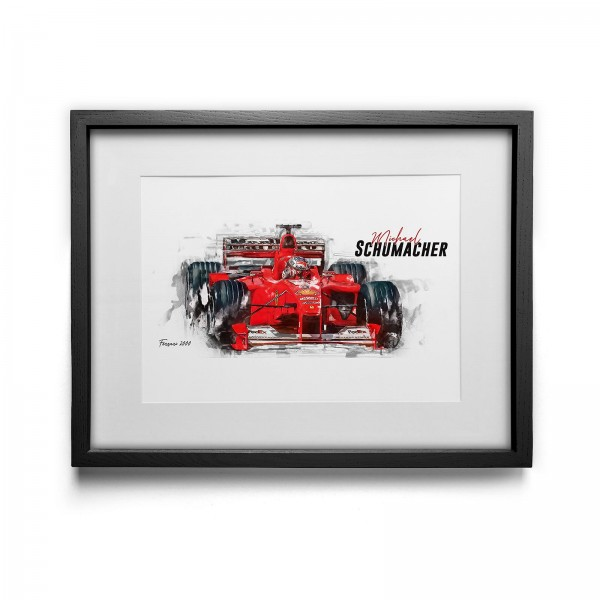 Artwork print - framed - Michael Schumacher - Scuderia Ferrari - 2000