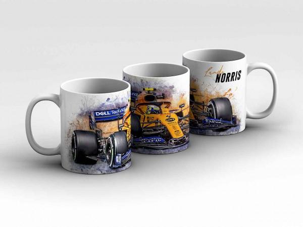 Tasse Motiv: Formel1 Lando Norris - McLaren F1 Team - Front Kaffeebecher
