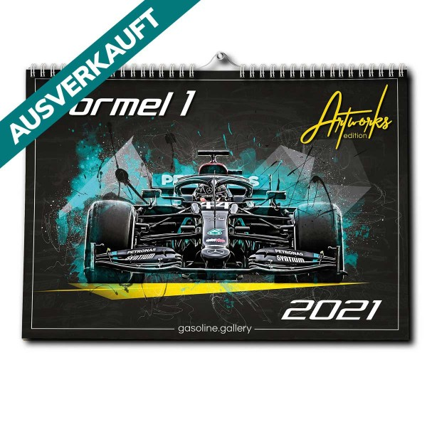 Formel 1 Kalender 2021 DINA2 Premium Wandkalender Artwork Edition 12 Monate