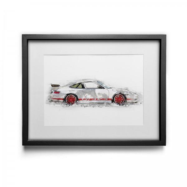 Kunstdruck gerahmt - Porsche 911 GT3 RS- 2003