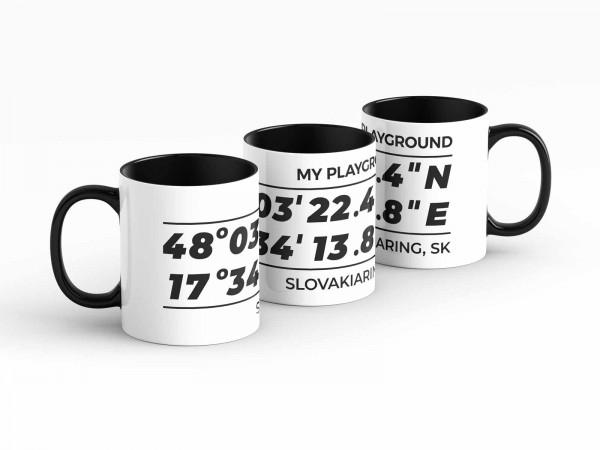 Tasse - GPS Koordinaten - Slovakiaring - Kaffeebecher