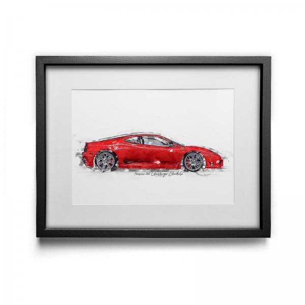 Kunstdruck gerahmt - Ferrari 360 Challange Stradale - 2004