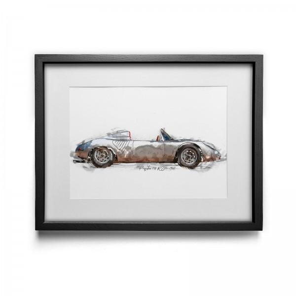Kunstdruck mit Rahmen Motiv: Porsche 718 RS - 1960