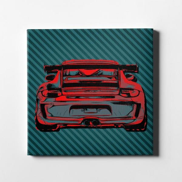 Artwork Leinwanddruck Motiv: Porsche 911 GT3 RS