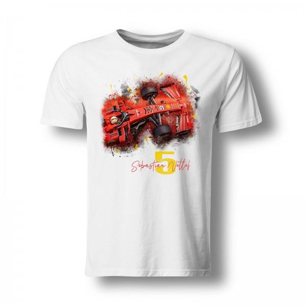 T-Shirt - Formel 1 - Sebastian Vettel - Number 5