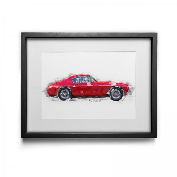 Kunstdruck mit Rahmen Motiv: Ferrari 250 GT SWB - 1960