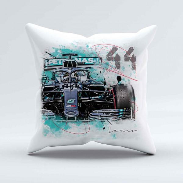 Kissen - Artwork Motiv: Formel1 Lewis Hamilton - Mercedes