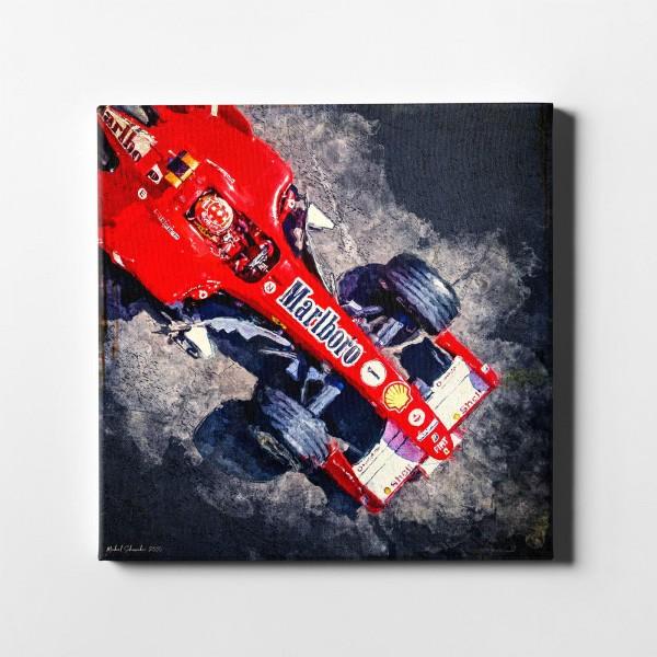 Artwork Leinwanddruck Motiv: Michael Schumacher - Ferrari - 2005