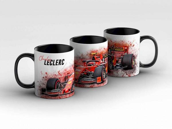 Tasse Motiv: Formel1 Charles Leclerc - Scuderia Ferrari Mission Winnow - Front Kaffeebecher