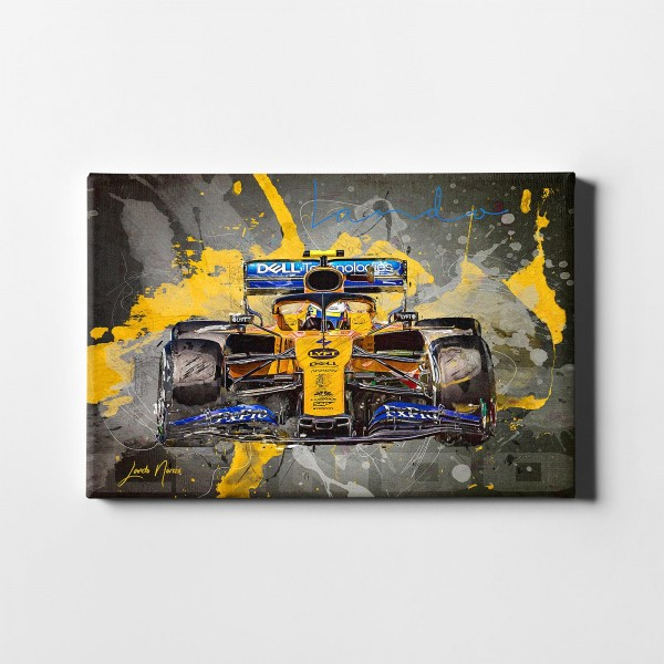 Artwork canvas print Lando Norris - Barcelona 2019