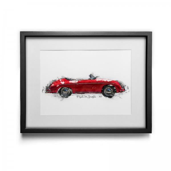 Artwork Print - framed - Porsche 356 Speedster - 1957