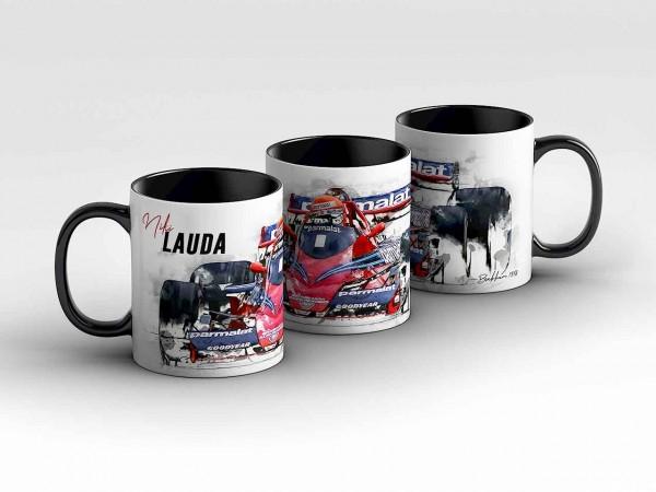 Tasse Motiv: Formel1 Niki Lauda - Brabham - 1978 - Front Kaffeebecher