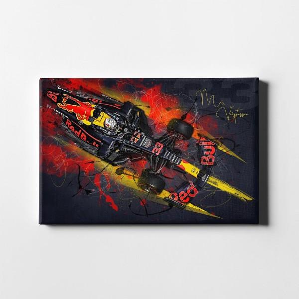 Artwork Leinwanddruck Motiv: Max Verstappen - Aston Martin - Red Bull - 2021