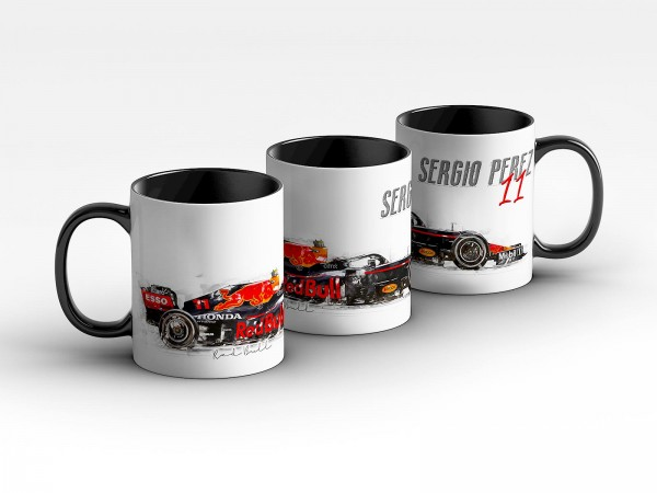 Tasse Motiv: Formel1 Sergio Perez - Red Bull Racing - 2021 - Silhouette Kaffeebecher