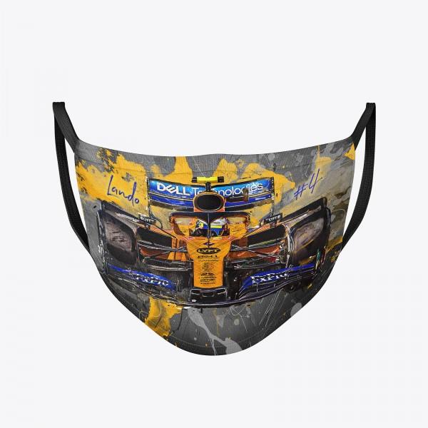 Community Maske Motiv: Lando Norris 2019 | Behelfsmaske | waschbar | wiederverwendbar | Formel1 Mund