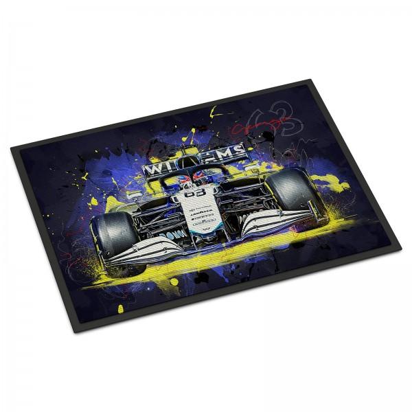 Fussmatte - Artwork Motiv: Formel1 George Russel - Williams Racing - 2021