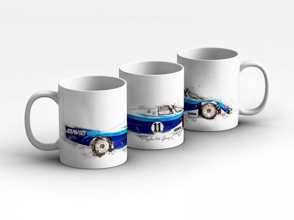 Tasse Motiv: Porsche 956 Group C - 1983 Kaffeebecher