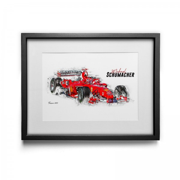 Artwork print - framed - Michael Schumacher - Scuderia Ferrari - 2003