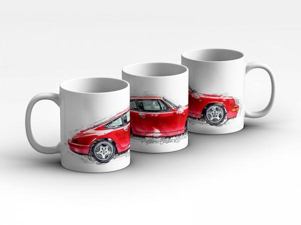 Tasse Motiv: Porsche 911 Carrera RS - 1992 Kaffeebecher
