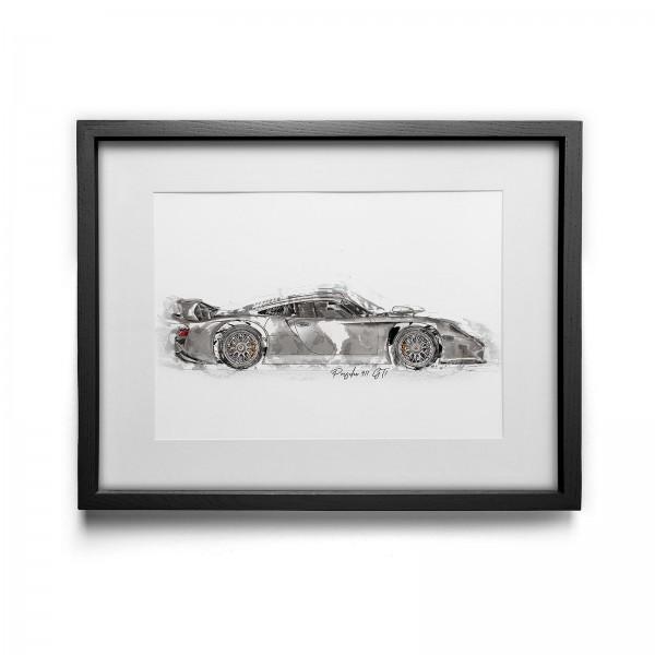 Kunstdruck gerahmt - Porsche GT1 - 1998