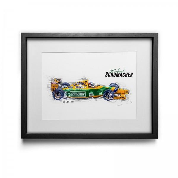 Artwork print - framed - Michael Schumacher - Benetton - 1992