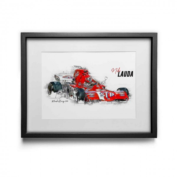 Artwork print - framed - Niki Lauda - March - 1972