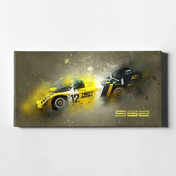 Artwork Leinwanddruck Motiv: Porsche 962