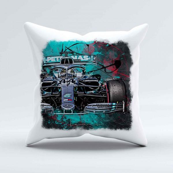 Kissen - Artwork Motiv: Formel1 Lewis Hamilton - Mercedes - 2019