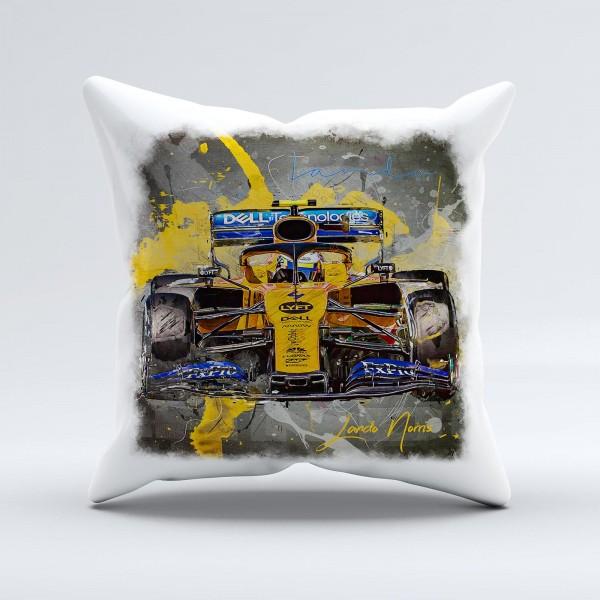 Formel 1 Kissen Artwork Lando Norris - Mc Laren F1 - 2019