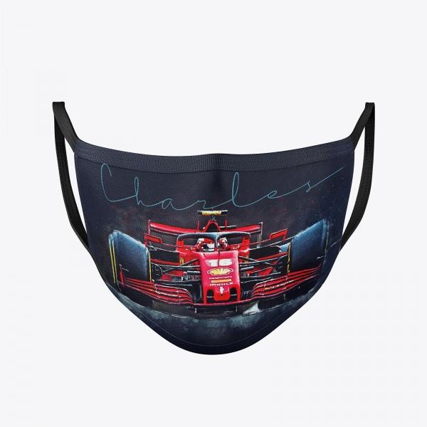 Community Maske   Charles Leclerc   Behelfsmaske   waschbar   wiederverwendbar   Formel1 Mundschutz   Mund- Nasenschutz   Mund-Nasen-Maske