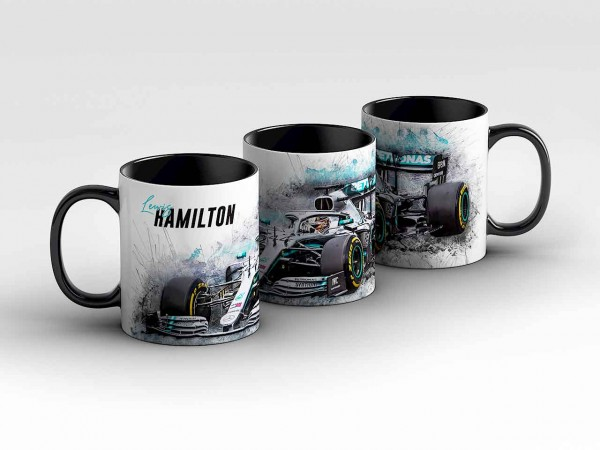 Tasse Motiv: Formel1 Lewis Hamilton - Mercedes AMG Petronas Motorsport - Front Kaffeebecher