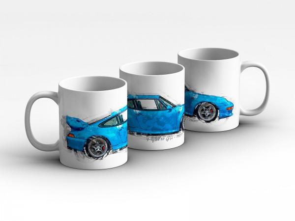 Tasse Motiv: Porsche 911 GT2 - 1995 Kaffeebecher