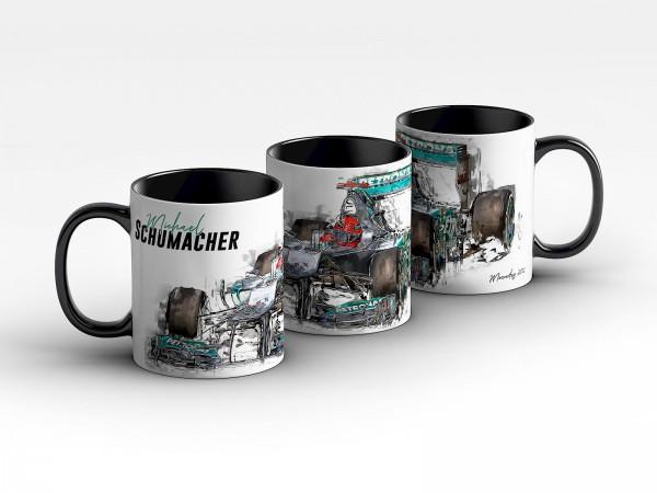Tasse Motiv: Formel1 Michael Schumacher - Mercedes-AMG - 2012 Front Kaffeebecher