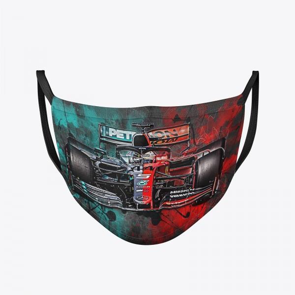 Community Maske | Sebastian Vettel Lewis Hamilton | Behelfsmaske | waschbar | wiederverwendbar | Formel1 Mundschutz | Mund- Nasenschutz | Mund-Nasen-Maske