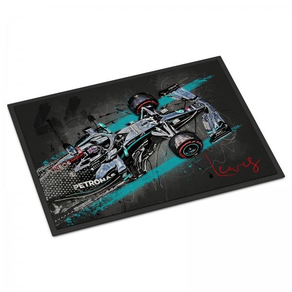 Fussmatte - Artwork Motiv: Formel1 Lewis Hamilton - Saison 2020