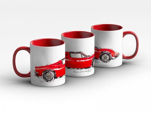 Tasse Motiv: Ferrari Dino 246 GTS - 1974 Kaffeebecher