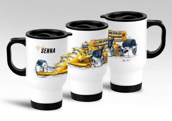 Thermo Mug - Ayrton Senna - Lotus 1987