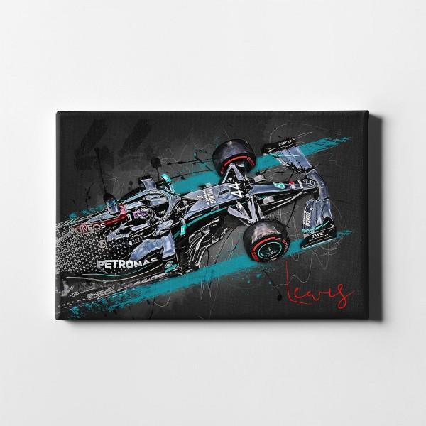 Leinwanddruck Motiv: Lewis Hamilton - Saison 2020