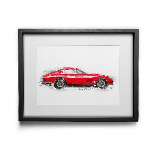Kunstdruck gerahmt - Ferrari 275 GTB - 1964