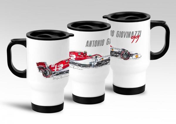Thermobecher - Formel 1 - Antonio Giovinazzi - Alfa Romeo Racing - Silhouette